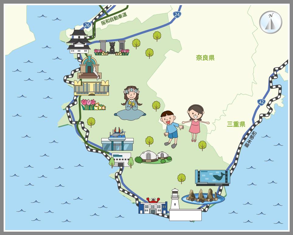 和歌山県の観光マップ・レジャーマップ【ホームメイト ...