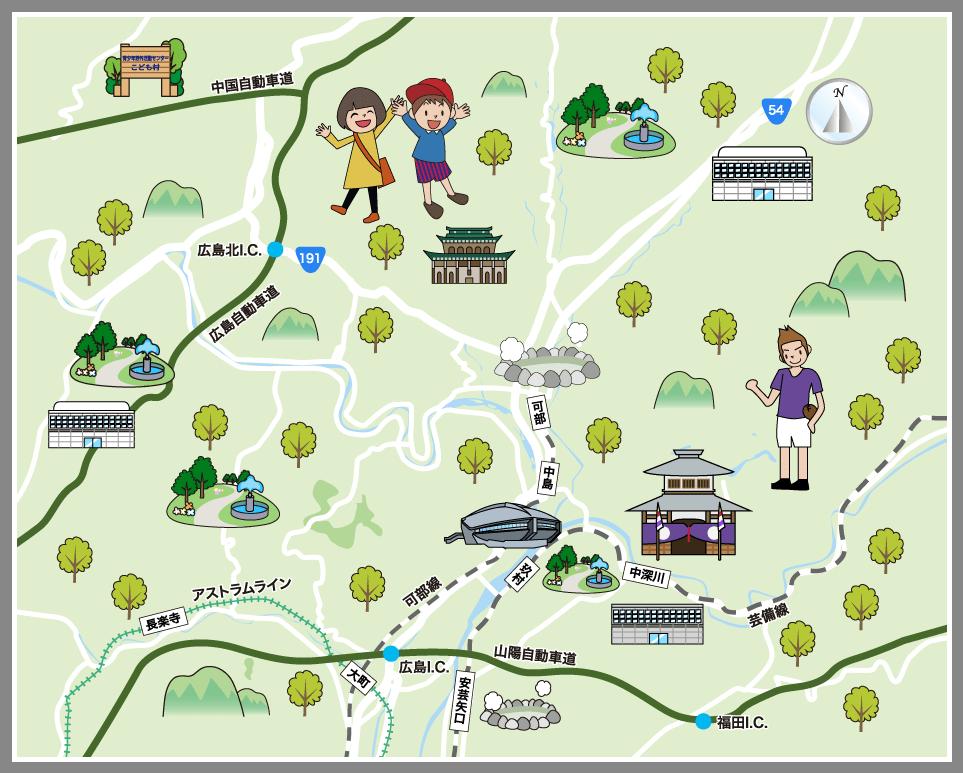広島市安佐北区の観光マップ・レジャーマップ【ホームメイト ...