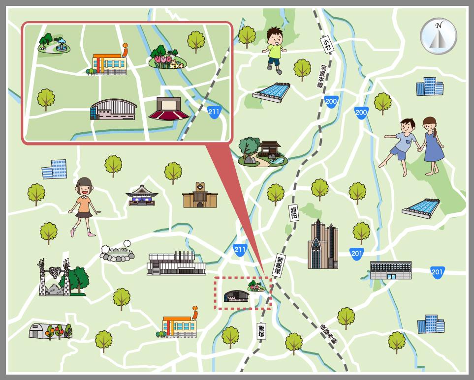 福岡県飯塚市の観光マップ・レジャーマップ【ホームメイト ...