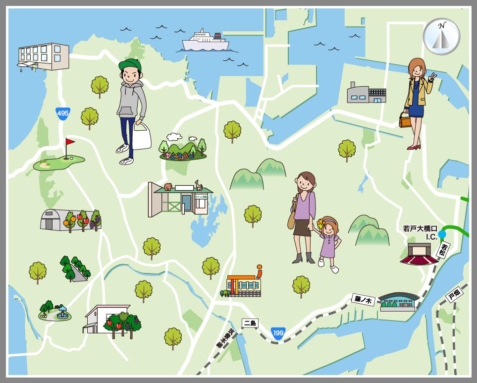 北九州市若松区の観光マップ・レジャーマップ【ホームメイト ...