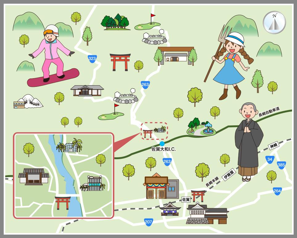 佐賀県佐賀市の観光マップ・レジャーマップ【ホームメイト ...